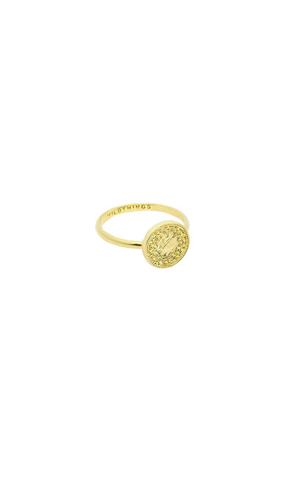 Wildthings Collectables Coin Ring Goldplated