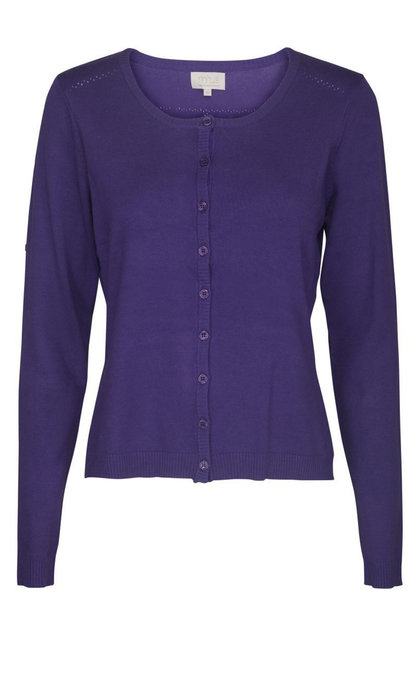 Minus New Laura Cardigan Purple Haze Melange