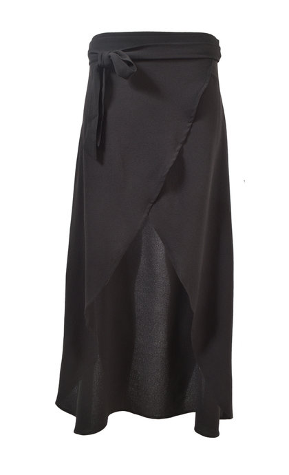 Moost Wanted Lina Wrap Skirt Black
