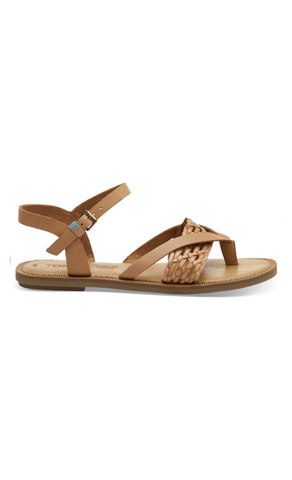 Toms Honey Leth/Syn Braid Lexie Sand Natural