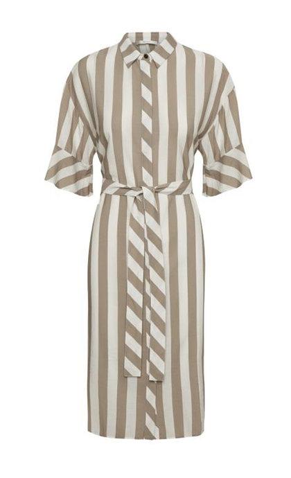 Gestuz GunnaGZ Long Shirt Sand Stripe