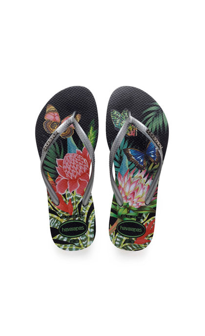 Havaianas Slim Tropical  Black/ Grap