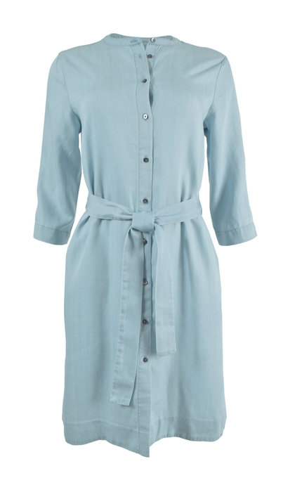 Second Female Sophia New Shirt Dress Light Blue Denim