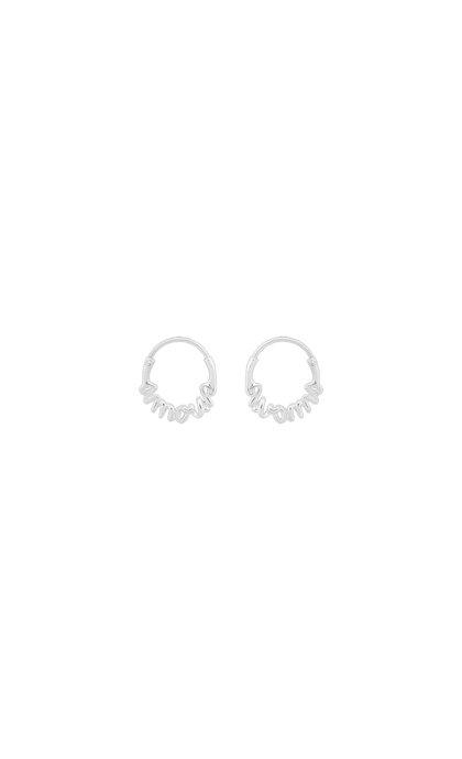 Anna + Nina Amour Small Hoop Earring Silver