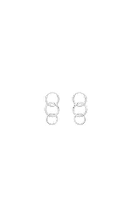 Anna + Nina Multi Eden Ring Earring Silver