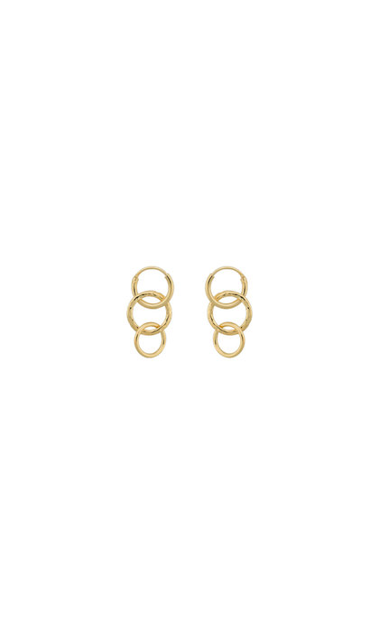 Anna + Nina Multi Eden Ring Earring Silver Goldplated