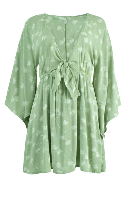 Amuse Society Clementina Dress Palm Green