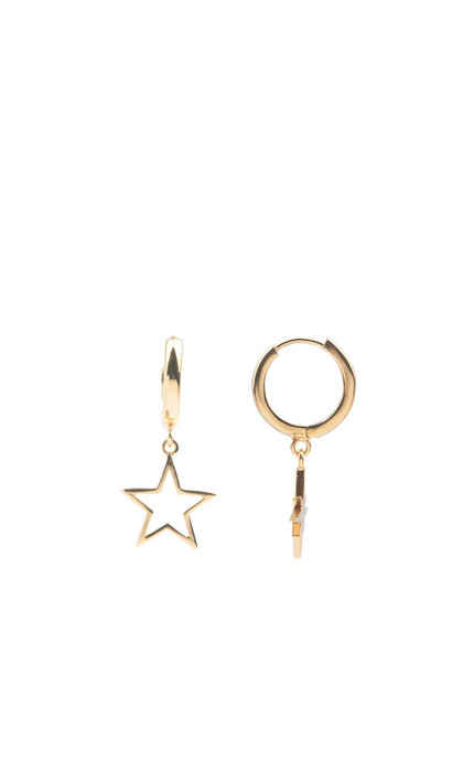 All the Luck in the World Souvenir Earrings Star Goldplated