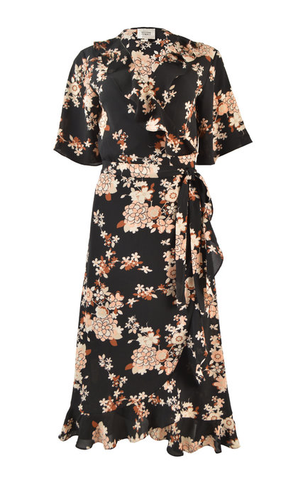 Second Female Momal Wrap Dress Black