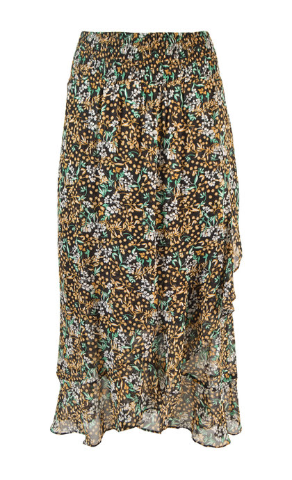 446e104c85 Second Female Wise Midi Skirt Black