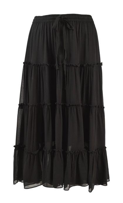 Second Female Branchly Midi Skirt Black