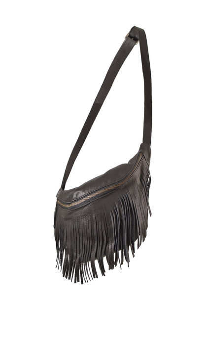 Elvy Carrie Fringe Fanny Pack Black