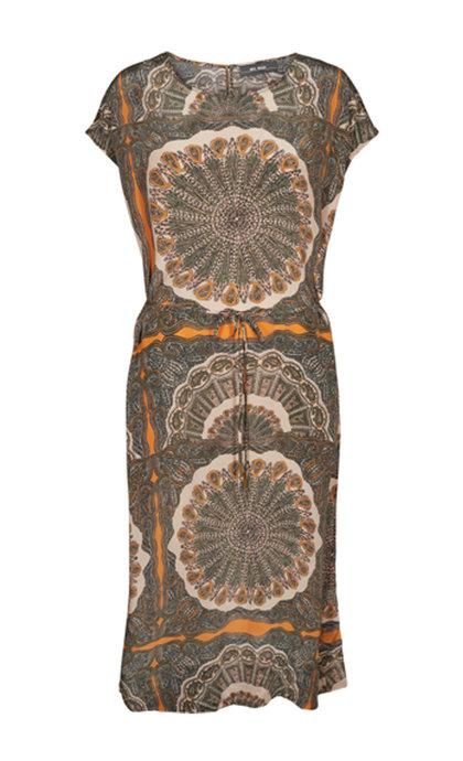 Mos Mosh Sema Scarf Dress Apricot Buff Print