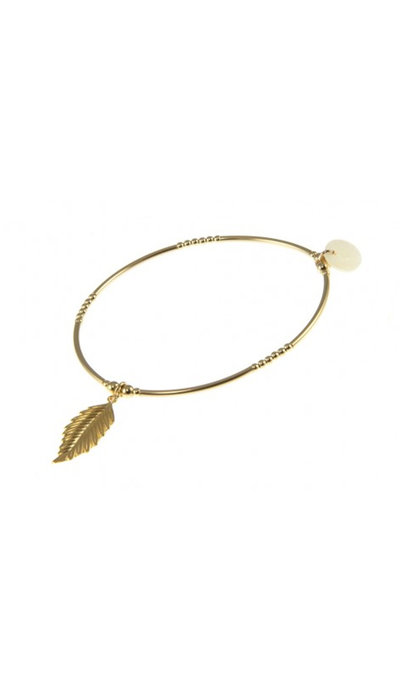 Blinckstar GF Beads Tubes Feather Charm Elastic