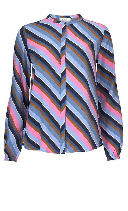 Modstrom Rylan Print Shirt Flash Stripe