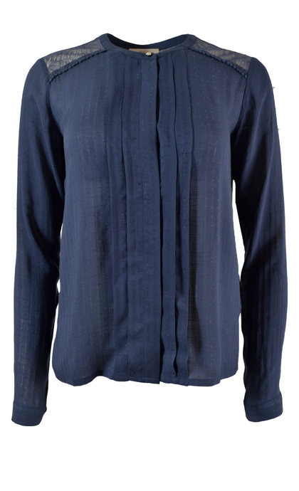 Sessun Simlake Blouse Worker Blue