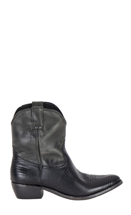 Catarina Martins Benin Leather Black + Green Boots 5549