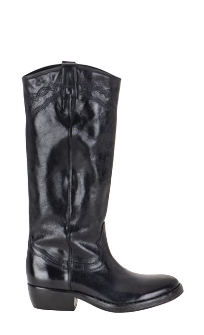 Catarina Martins Nomad Leather Black High Boots