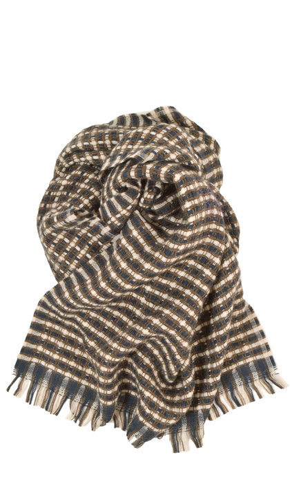 Sessun Pio Scarf Kaki Brown