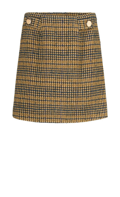Modstrom Suko Skirt Yellow Check