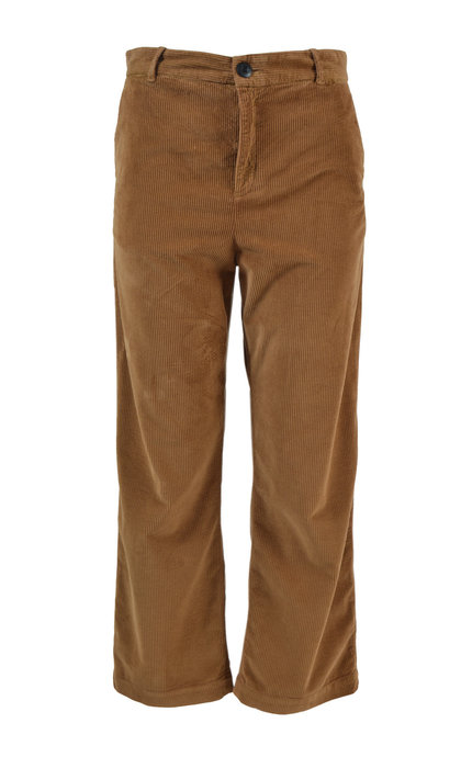 Leon and Harper Phil Corduroy Brown High Waist Loose Trousers