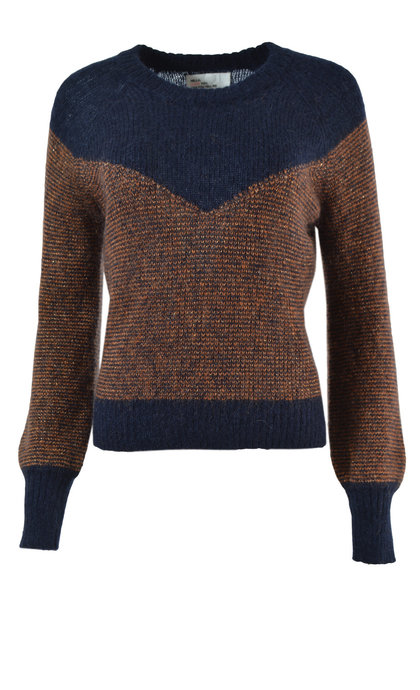 Leon and Harper Litchi Rust Round Collar Sweater