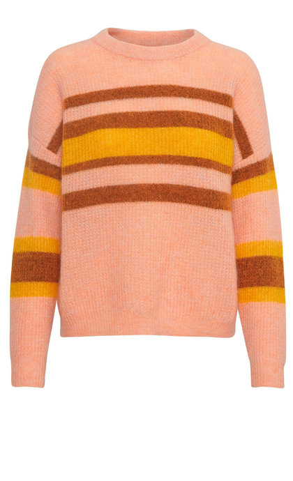 Gestuz Brenda Stripe Pullover Blush Multi Melange