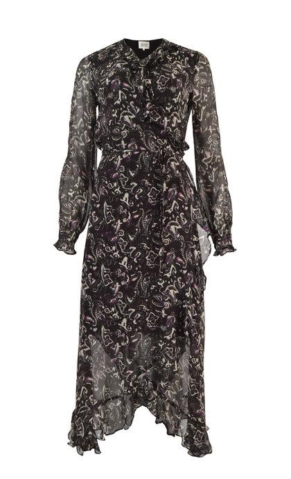 Second Female Sand Wrap Maxi Dress Black