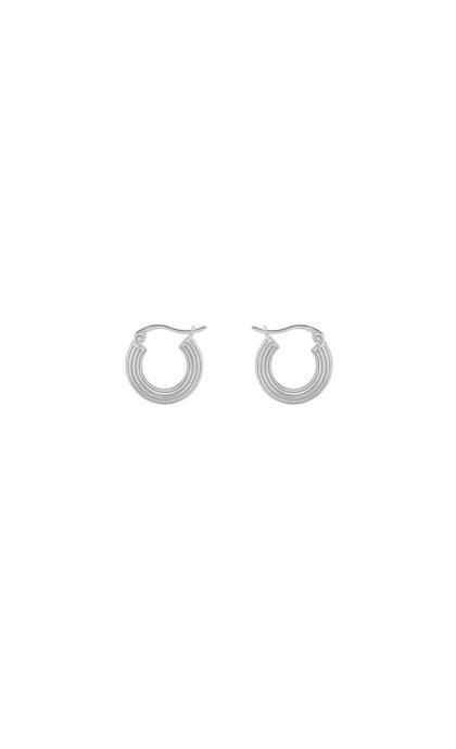 Anna + Nina Pyramid Ring Earring Silver