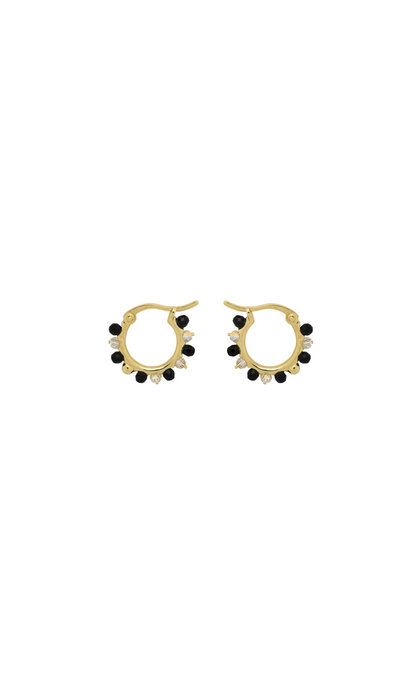 Anna + Nina Sahara Ring Earrings Silver Goldplated