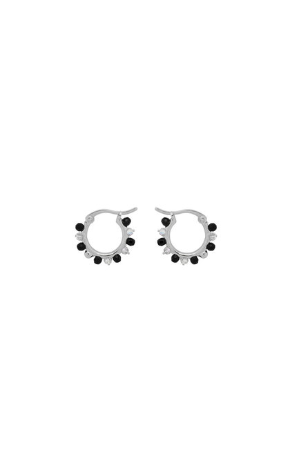 Anna + Nina Sahara Ring Earrings Silver