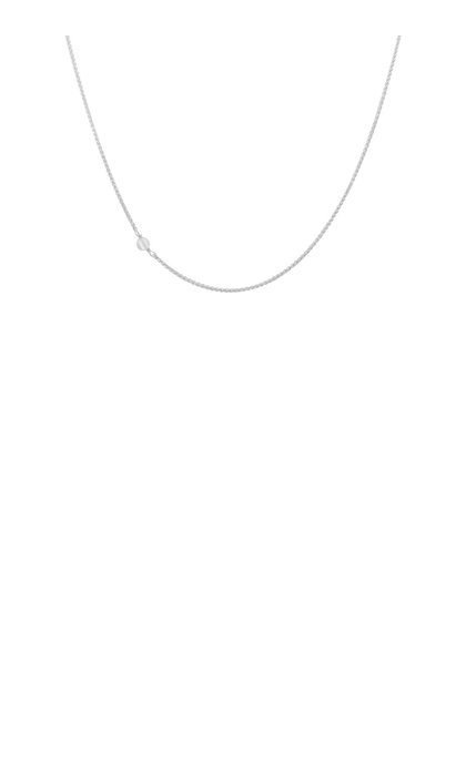 Anna + Nina White Quartz Necklace Short Silver