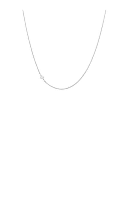 Anna + Nina White Quartz Necklace Long Silver