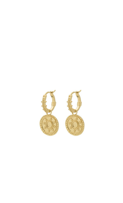 Anna + Nina Cleopatra Ring Earring Silver Goldplated