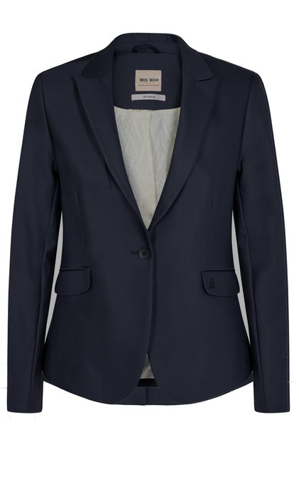 Mos Mosh Blake Night Blazer Sustainable Navy