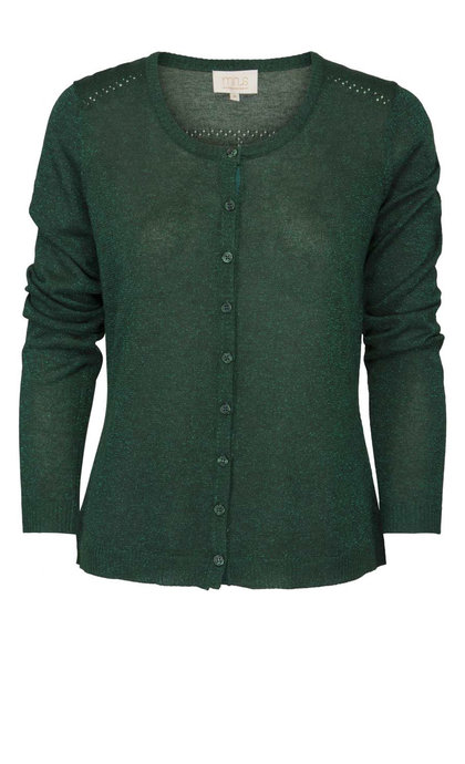 Minus New Laura Cardigan Hunter Green Lurex