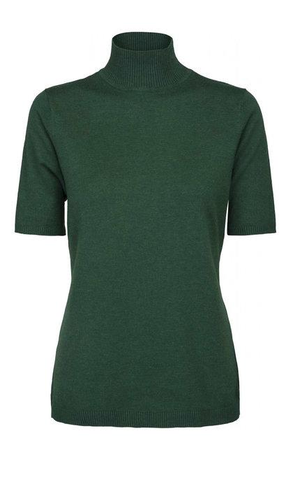Minus Lima Roll Neck Knit Hunter Green Melange