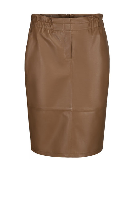 Minus Paia Leather Skirt Walnut Brown