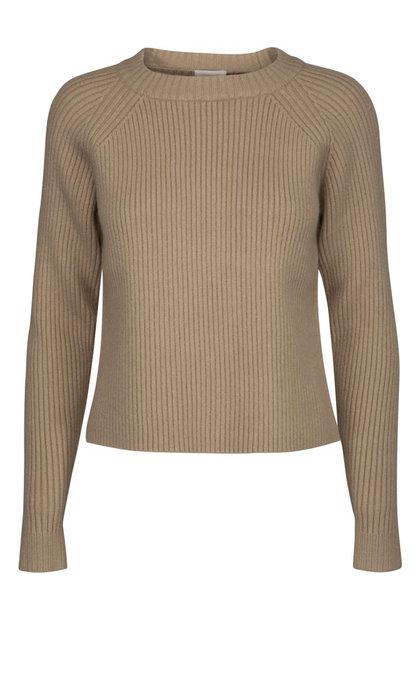 Minus Ava Knit Pullover Nomad Sand Melange