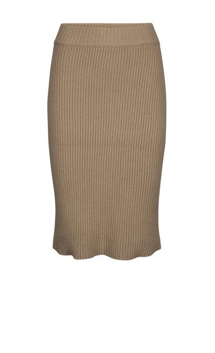 Minus Ava Knit Skirt Nomad Sand Melange