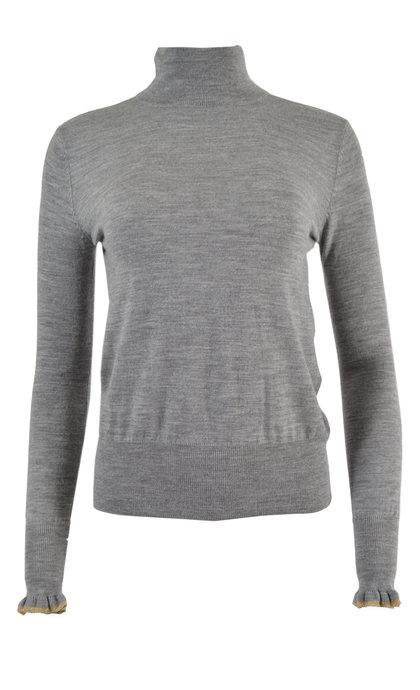 Sessun Merindad Cloud Gray Knit