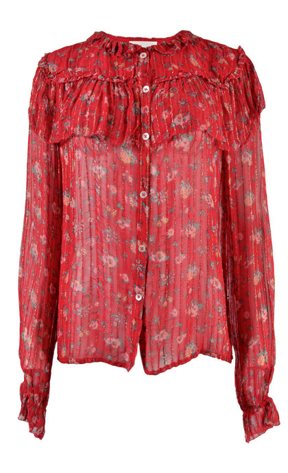 Leon and Harper Cendrine Shirt Flore + Red
