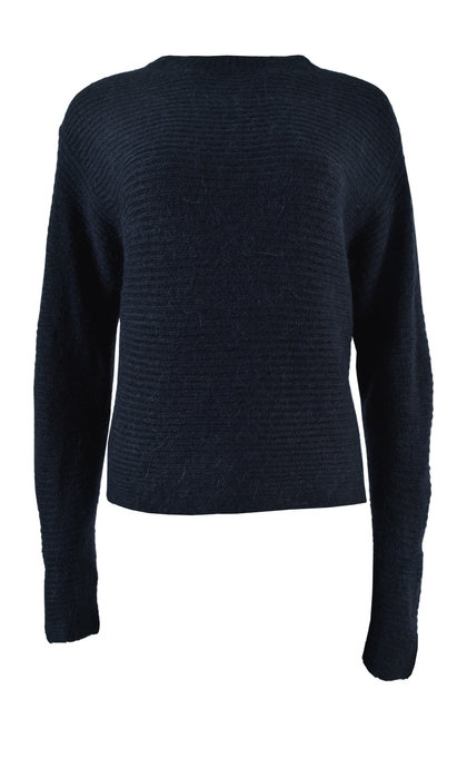 Another Label Vauvilliers Knitted Pull Alpaca Blend Black Iris