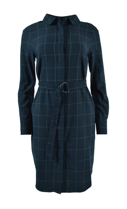 Another Label Valiant Check Square Dress Check Black Iris / Ponderosa