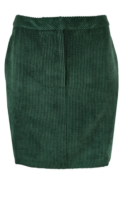 Another Label Stories Skirt Bubble Corduroy Ponderosa Green