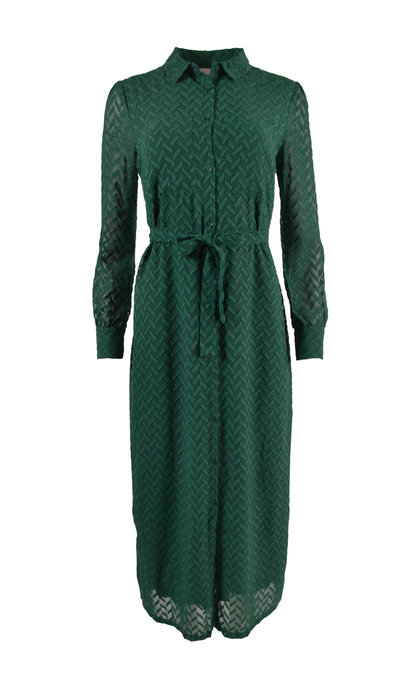 Another Label Provence Dress Woven Zigzag Ponderosa Green