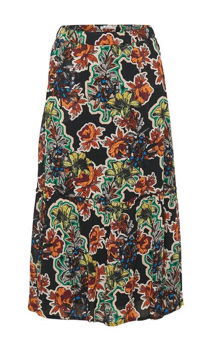 Gestuz Florita Skirt Black Grafiti Flower