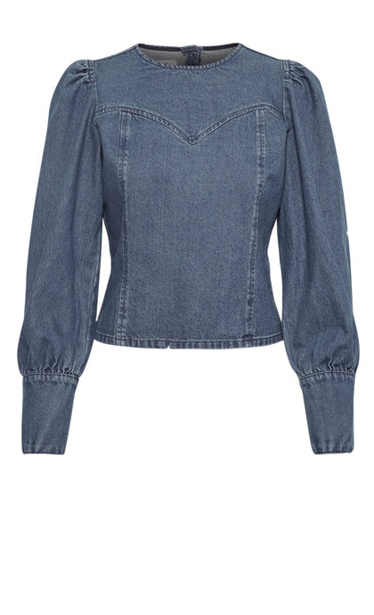 Gestuz Serala Blouse Denim Blue