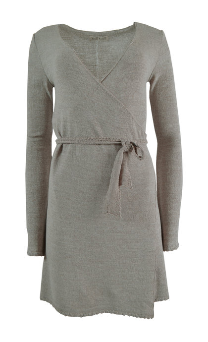 Moost Wanted Zen Knitted Wrap Dress Tender Taupe