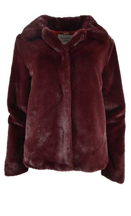 Another Label Virgo Jacket Soft Furry Windsor Wine